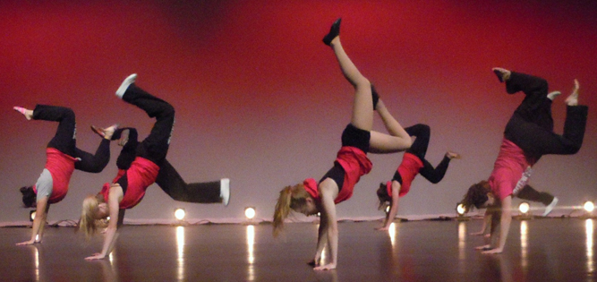 photo of dance students performing on stage.