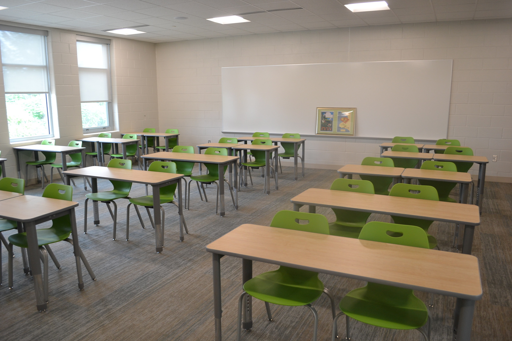 new classroom and furniture